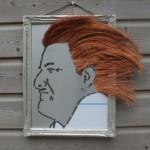 Zelfportret in rvs en koperdraad